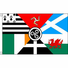 Celtic Nations Flag 5Ft X 3Ft Nationalist Welsh Scottish Irish Banner New