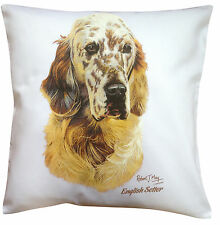 English Setter RM Breed of Dog Themed Cotton Cushion Cover - Perfect Gift