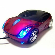 Red Car Shaped USB Computer Wired Optical Mouse Mice for Notebook Laptop PC