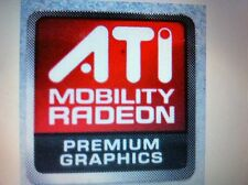 ATI MOBILITY RADEON PREMIUM GRAPHICS Sticker 16mmx16.6mm LOT OF 5 USA Seller