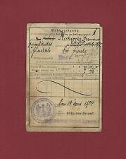 Documento Registrazione Impero Germanico 1909 Quittungskarte Firenzuola Neustadt
