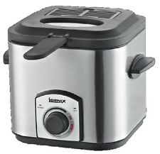 Igenix 1.2 Litre Compact Stainless Steel Deep Fat Mini Chip Fryer - IG8012