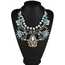 ***Ladies Stunning Crystal Statement Fashion Necklace Wedding Prom -Brand New***