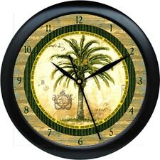 "Personalized Palm Tree Kitchenr 10.75"" Wall Clock Gift"
