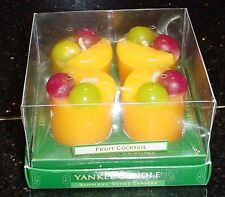 YANKEE CANDLE FARMERS Market FRUIT COCKTAIL 4 pack Votives NEW