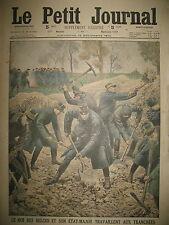 WW1 TRANCHEES ROI DES BELGES COSAQUES RUSSIE COMBATS  LODZ LE PETIT JOURNAL 1914