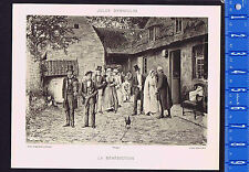 Benediction - Marriage Blessing - Denneulin 1890 Litho