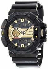 *NEW* CASIO MENS G SHOCK BLACK & GOLD BLUETOOTH MIX MUSIC WATCH GBA-400-1A9