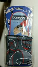 NEW-Sprigs Banjees Wrist Wallet Holds cash, keys, cards, id---GRAY ORANGE SWIRL