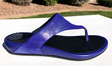 FitFlop Banda Opul Thong Sandals Size 41 (US 9) Mazarine Blue Shimmer NEW $120