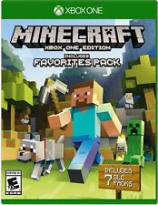 NEW Minecraft Xbox One Edition Includes Favorites Pack (Microsoft Xbox One 2016)