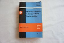 1976 Swiss Railway Timetable with Maps Switzerland Suisse Zurich
