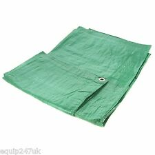 Green Heavy Duty 5.4m x 7m (18ft x 24ft) Polyethylene Woven Tarpaulin