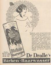 Y6124 Dr. Dralle's BIRKEN HAARWASSER - Pubblicità d'epoca - 1925 Old advertising