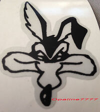 STICKER AUTOCOLLANT REFLECHISSANT COYOTE  SKULL BIKER CASQUE SCHOPPER MOTO