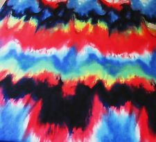 BY THE YARD  POLY LYCRA 4W STRETCH GORGEOUS WAVED TIE DYE COLORS