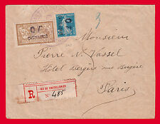 "GREECE FRANCE CASTELLORIZO 1920 COVER ""OF"" overprint  RARE Two Certificates"
