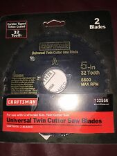 """Craftsman 2 Universal Twin Cutter Saw Blades 5"""" 32 Tooth 932556"""