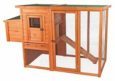 Backyard Chicken Coop Outdoor Run Nesting Box Roosting Pole Hinged Roof 66x30x41