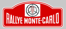 PLAQUE RALLYE MONTE-CARLO AUTOCOLLANT STICKER 150mmX65mm (RA035)