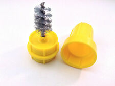 Battery Terminal Post Cable Cleaner Brush - Yellow Plastic