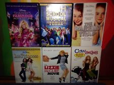 DISNEY 100% dvd lot of 6 Girls Must See!!! Princess Lizzie Plus