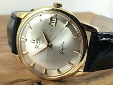 OMEGA 18ct Gold Geneve - Silver cross hair dial 562 Automatic 14703 Vintage 1960