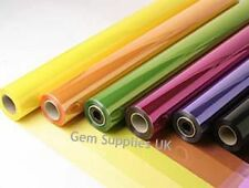 MIXED TINTED CELLOPHANE MULTIPACK 10 Metres x 7 Rolls Gift Film Wrap Bouquet