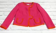 Jackie O: M Missoni Hot Pink & Orange Ribbed  Cotton Knit Jacket NWT IT42/UK10