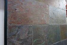 10,08qm Indischer Schiefer Fliesen bunt Naturstein 60 x 40 x 1,2 cm Buntschiefer