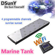 DSunY Wifi 1x40W LED Aquarium Tank Marine Coral Reef Fish Grow Lighting Light