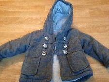 6/9 Months Grey Padded Coat Jacket Baby Boys