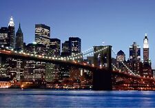 BROOKLYN BRIDGE NEW YORK Photo Wallpaper Wall Mural MANHATTAN 360x254cm  HUGE!