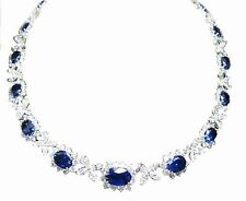 SAPPHIRE OVAL SHAPE SET DIAMOND 18 PEAR 54 MARQUISE 183 ROUND SHAPE NECKLACE