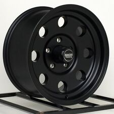 "15 inch American Racing Baja Black Wheels Rims Import Truck Pickup 15x8"" 6 Lug"