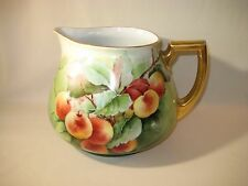 """""""Bavarian"""" H & Co. Hand Painted Porcelian Cider Pitcher with Peaches"""