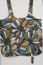 Brighton Nylon Shoppers Tote Bold Floral Print Reuse Recycle Rolls Up Storage