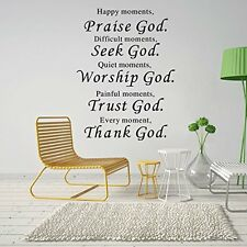 Removable Vinyl Decal Art Mural God Home Living Room Decor Quote Wall Sticker