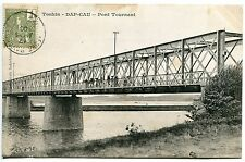 CARTE POSTALE CHINE TONKIN DAP CAU PONT TOURNANT 1906