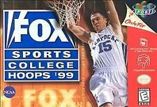 FOX SPORTS COLLEGE HOOPS 99 1999 GAME SYSTEM NINTENDO N64 N 64 NES HQ