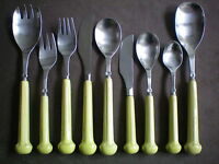 Denby Regency Ribbed Lime Green Individual Cutlery Pieces