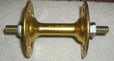 Vintage Old School Gold Anodized Suzue Large Flange Front 36 Hole Hub
