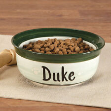 PERSONALIZED ~ Personalized Ceramic Pet Dish Dog Cat Food Bowl