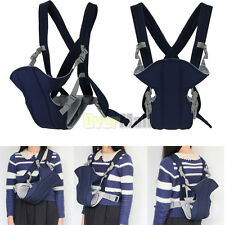 Blue Kid Infant Baby Carrier Backpack Front Back Rider Sling Comfort Wrap Bag