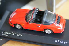 one 1:43 PORSCHE 911 Targa 964 MINICHAMPS black schwarz red rot carrera 2 4 s rs
