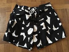 NWT EMPORIO ARMANI Men's Swimwear Boxer Shorts Black White Trunks Size 48