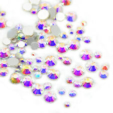 Mixed Size Non Hotfix Rhinestones Crystal Glass Beads 1300pcs Nail Art Top