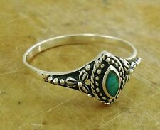 CUTE .925 STERLING SILVER TURQUOISE RING size 10  style# r2065