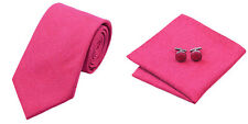 Rose red Novelty 100% Silk Classic Mens Necktie Tie Hanky Cufflink Set NT282