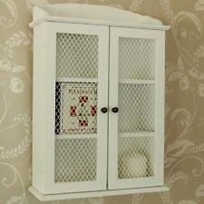 Legno bianco rete 2 ante bagno cucina credenza armadietto scaffalatura